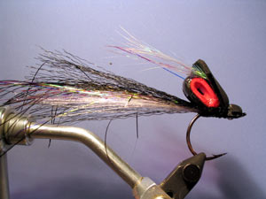 Stealth Bomber fly tied for golden dorado...